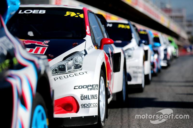 The car of Sebastien Loeb, Team Peugeot-Hansen, Peugeot 208 WRX