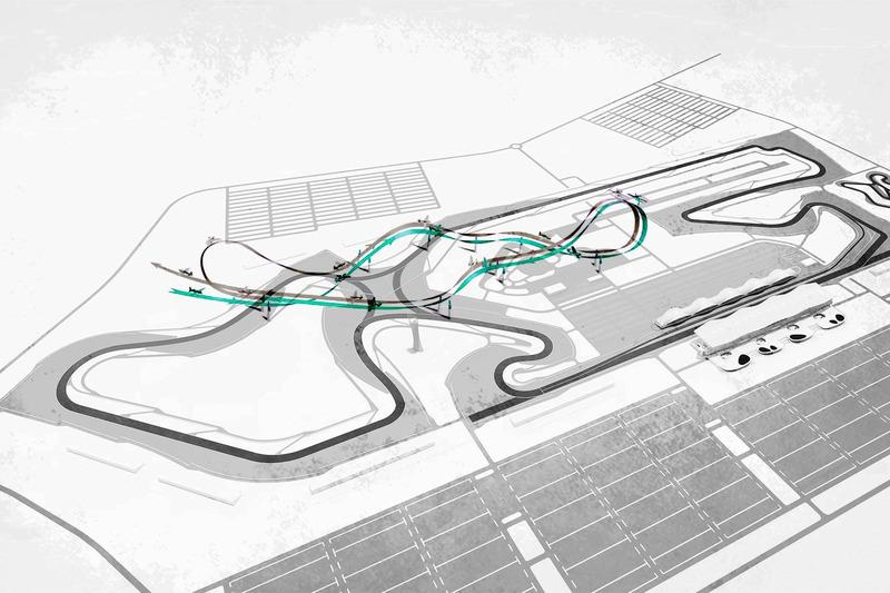 Схема трассы для соревнований по аэробатике