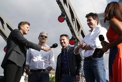 Джейк Хамфри, руководитель Ferrari Маурицио Арривабене, глава Red Bull Racing Кристиан Хорнер и испо