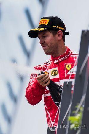 Tweede plaats Sebastian Vettel, Ferrari