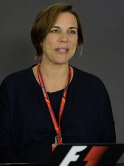 Claire Williams, Williams Deputy Team Principal in the Press Conference