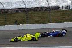 Simon Pagenaud, Team Penske Chevrolet Takuma Sato, Andretti Autosport Honda