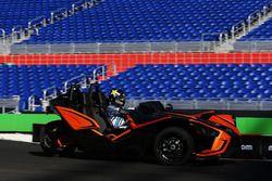 Scott Speed driving the Polaris Slingshot SLR
