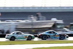 #26 Freedom Autosport Mazda MX-5: Andrew Carbonell, Liam Dwyer; #31 Bodymotion Racing Porsche Cayman