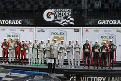 Podium: race winners Ricky Taylor, Jordan Taylor, Max Angelelli, Jeff Gordon, Wayne Taylor Racing, GTLM first place Joey Hand, Dirk Müller, Sébastien Bourdais, Ford Performance Chip Ganassi Racing, PC first place James French, Kyle Mason, Patricio O'Ward, Nicholas Boulle, Performance Tech Motorsports, GTD first place Daniel Morad, Jesse Lazare, Carlos de Quesada, Michael de Quesada, Michael Christensen, Alegra Motorsports