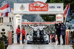 Derde plaats Ott Tänak, Martin Järveoja, Ford Fiesta WRC, M-Sport