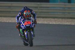 Maverick Viñales, Yamaha Factory Racing issing his Yamaha