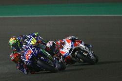 Maverick Viñales, Yamaha Factory Racing; Andrea Dovizioso, Ducati Team; Valentino Rossi, Yamaha Fact