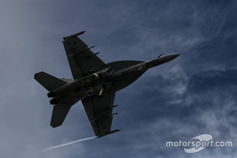 An Australian Air Force flyover