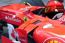 Ailette près du cockpit de la Ferrari SF70H