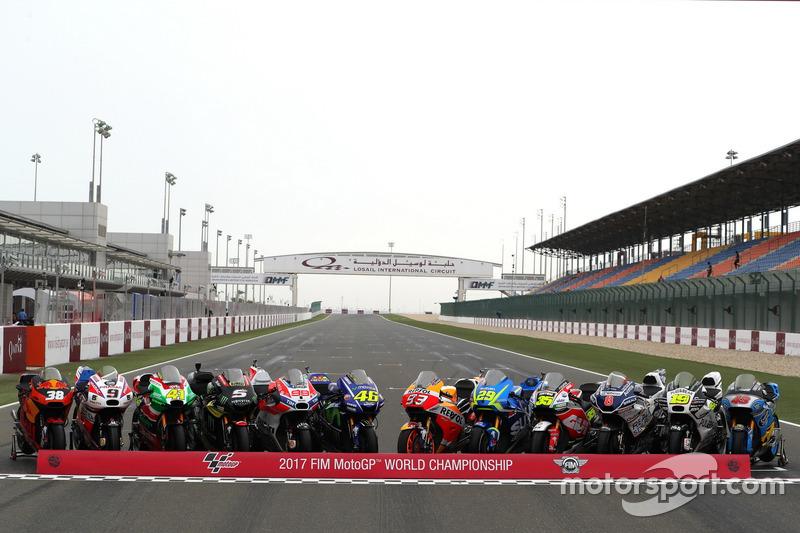 Line up de motos 2017 de MotoGP