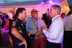 Christian Horner, Red Bull Racing equipo Principal, Niki Lauda, Mercedes AMG F1 Presidente no ejecut