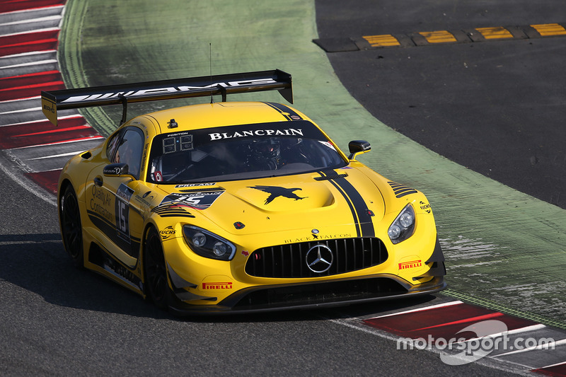 #15 Black Falcon Mercedes AMG GT3: Dore Chaponik, Brett Sandberg, Scott Heckert