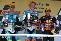 Podium: second place Sergio Gadea, Race winner Bradley Smith, third place Marc Marquez