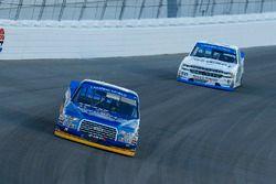Chase Briscoe, Brad Keselowski Racing Ford and Johnny Sauter, GMS Racing Chevrolet