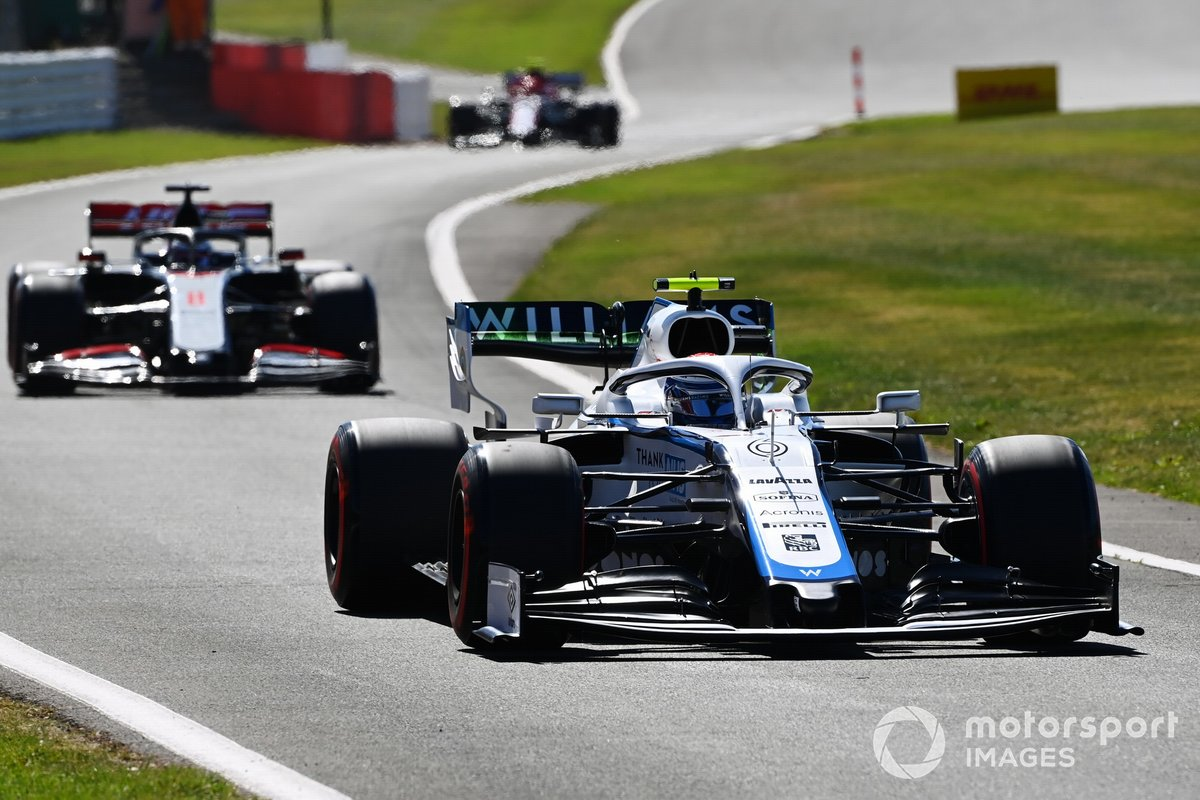 Nicholas Latifi, Williams FW43, Romain Grosjean, Haas VF-20