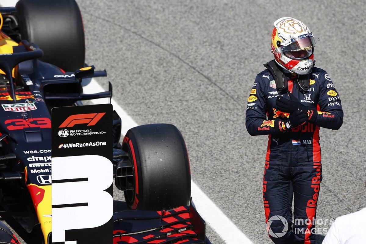 Tercero Max Verstappen, Red Bull Racing