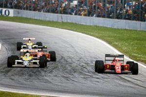 Nigel Mansell, Ferrari 640, Riccardo Patrese, Williams FW12C Renault, Gerhard Berger, Ferrari 640, Thierry Boutsen, Williams FW12C Renault