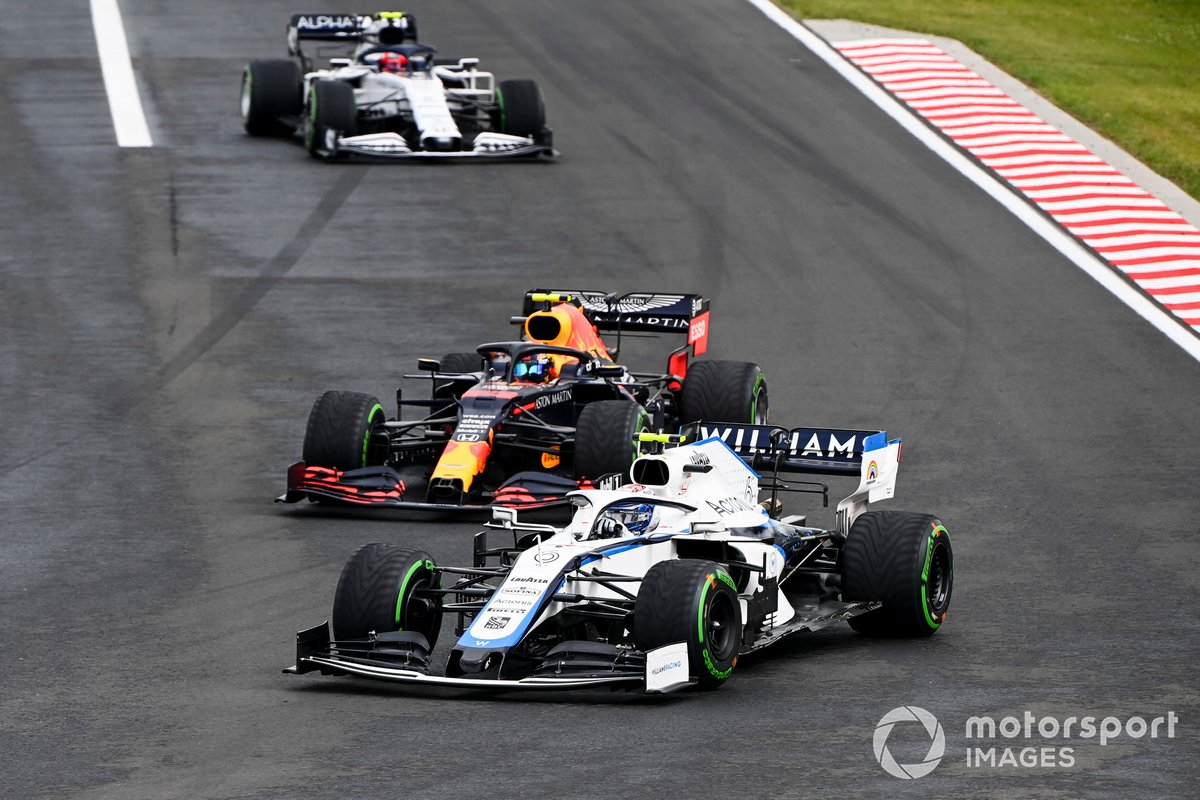Nicholas Latifi, Williams FW43, Alex Albon, Red Bull Racing RB16, Pierre Gasly, AlphaTauri AT01