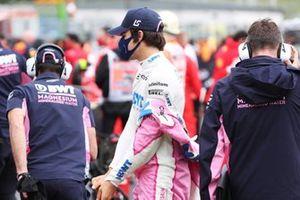 Лэнс Стролл, Racing Point, на стартовой решетке