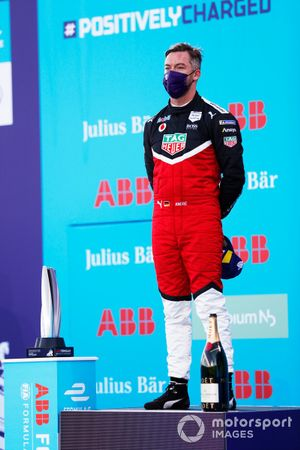 Andre Lotterer, Tag Heuer Porsche, on the podium