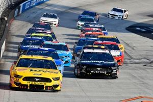 Michael McDowell, Front Row Motorsports, Ford Mustang, Aric Almirola, Stewart-Haas Racing, Ford Mustang