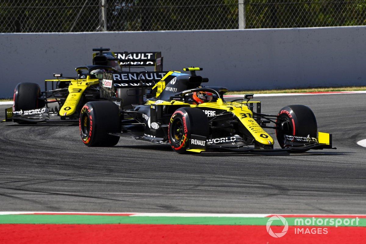 Esteban Ocon, Renault F1 Team R.S.20 e Daniel Ricciardo, Renault F1 Team R.S.20