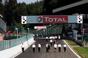 Toyota Racing walk the track