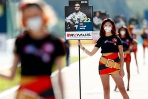 Grid girl of Lucas Auer, BMW Team RMG