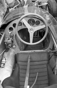 The cockpit on the Ferguson P99 Climax