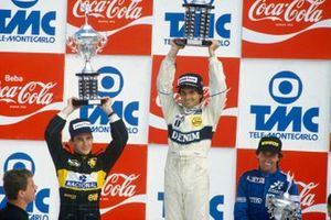 Nelson Piquet, Williams, Ayrton Senna, Lotus, Jacques Laffite, Ligier