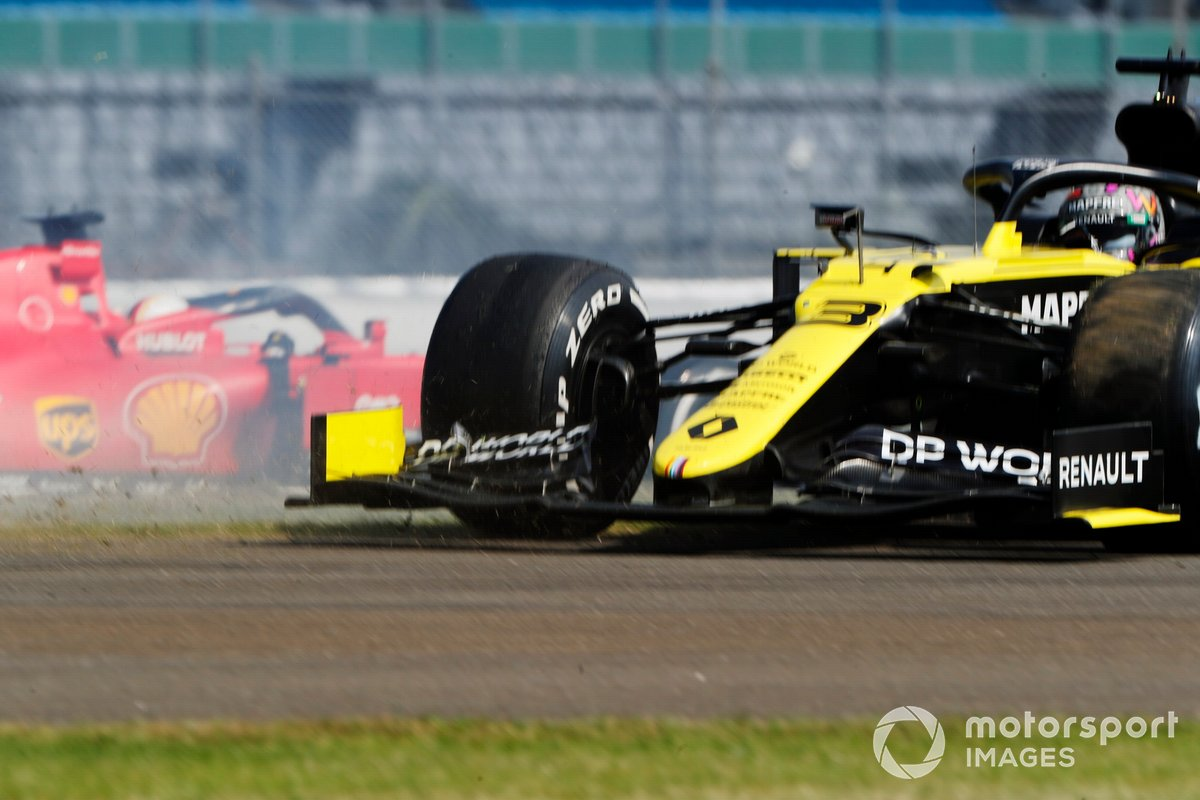 Daniel Ricciardo, Renault F1 Team R.S.20, después de un trompo