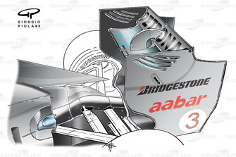 Mercedes AMG F1 W01 rear wing Chinese GP