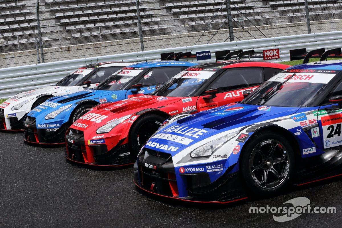 #3 CRAFTSPORTS MOTUL GT-R、#12 カルソニック IMPUL GT-R、#23 MOTUL AUTECH GT-R、#24 リアライズコーポレーション ADVAN GT-R