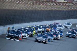 Brett Moffitt, GMS Racing, Chevrolet Silverado, Christian Eckes, Kyle Busch Motorsports, Toyota Tundra Safelite AutoGlass