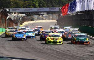 Largada em Interlagos - GT3 Cup - Porsche