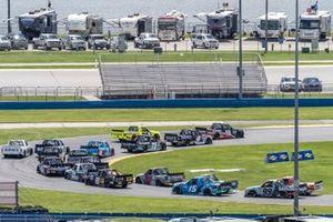 Christian Eckes, Kyle Busch Motorsports, Toyota Tundra Safelite AutoGlass, Raphael Lessard, Kyle Busch Motorsports, Toyota Tundra Mobil 1