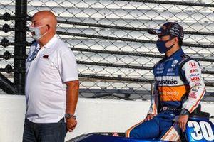 Takuma Sato, Rahal Letterman Lanigan Racing Honda with Bobby Rahal