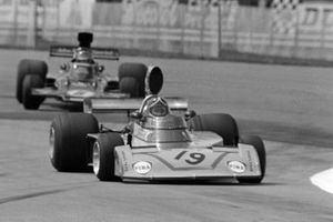 Dave Morgan, Surtees TS16/4-Ford, Ronnie Peterson, Lotus 72E, GP di Gran Bretagna del 1975