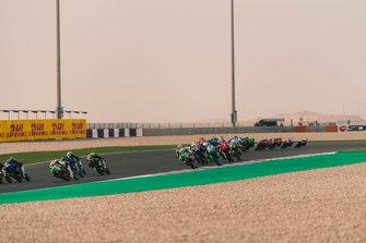 Moto3-Action in Doha