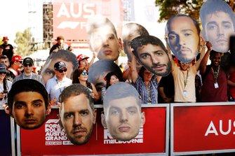 Les fans sur le circuit de Melbourne