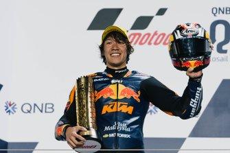 Podium: Race winner Tetsuta Nagashima, Red Bull KTM Ajo