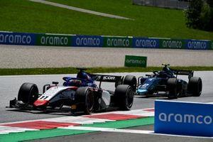 Louis Deletraz, Charouz Racing System, leads Dan Ticktum, Dams