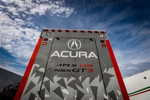 #6: Acura Team Penske Acura DPi, DPi: Juan Pablo Montoya, Dane Cameron, #7: Acura Team Penske Acura DPi, DPi: Helio Castroneves, Ricky Taylor, #57: Heinricher Racing w/MSR Curb-Agajanian Acura NSX GT3, GTD: Alvaro Parente, Misha Goikhberg, #86: Meyer Shank Racing w/Curb-Agajanian Acura NSX GT3, GTD: Mario Farnbacher, Matt McMurry, #22: Gradient Racing Acura NSX GT3, GTD: Till Bechtolsheimer, Marc Miller transporter