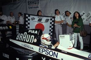 Satoru Nakajima sits in his Tyrrell 020 Honda
