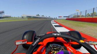 F1 2019 durante una vuelta al revés en Silverstone