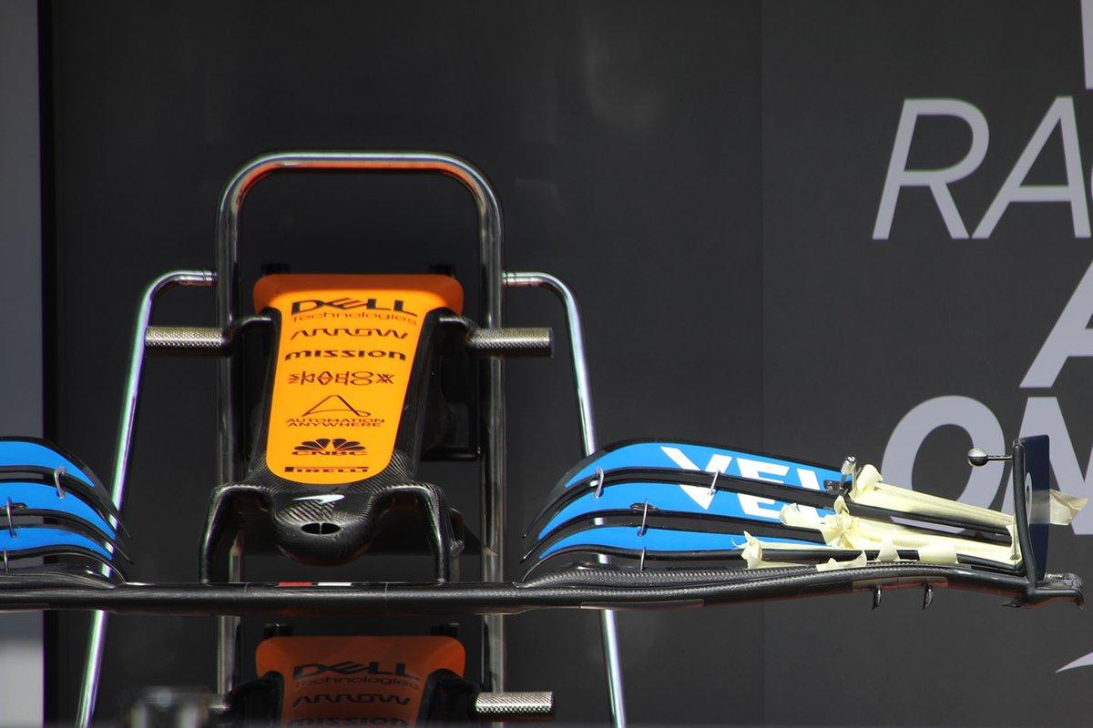 Alerón delantero del McLaren MCL35