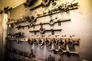 Tools aboard the St Helena logistics ship