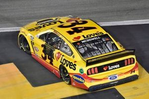 Michael McDowell, Front Row Motorsports, Ford Mustang Love's Travel Stops celebrates his win