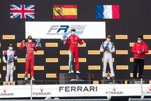 Podio: David Vidales, Prema; Alex Quinn, Arden; Hadrien David, R-ACE GP; Isack Hadjar, R-ACE GP
